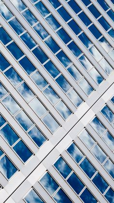 Sky Reflected On Glass Windows iPhone 6 Plus HD Wallpaper