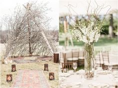 Rustic branches wedding ideas / http://www.deerpearlflowers.com/twigs-and-branches-wedding-ideas/