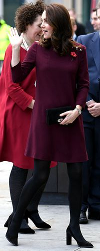 8 November 2017 - Duchess of Cambridge attends Place2Be School Leaders Forum. Pregnant with baby Cambridge #3.
