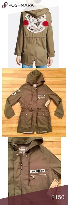 TRUE RELIGION Brand ( MED ) Military Patch Parka ⭐️ TRUE RELIGION  Military Patch Parka   Item # WEGH146EVC  Color: Militant Green  Multiple pockets   100% Cotton   < SIZE MEDIUM >  Usually ships within two business days! Coming to you from a smoke free home! ☺️ Thank You  True Religion Jackets & Coats Utility Jackets