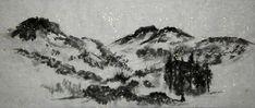 Mountains, trees - Magic Mountain - by Christine Leisi, Switzerland