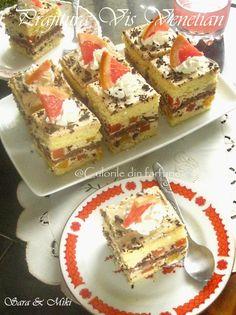 Prajitura Vis Venetian este o prajitura reconfortanta ca toate deserturile cu fructe.