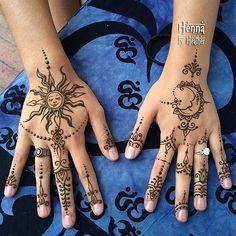 #henna #celestial #sun #moon #iloveyoutothemoonandback #in… | Flickr