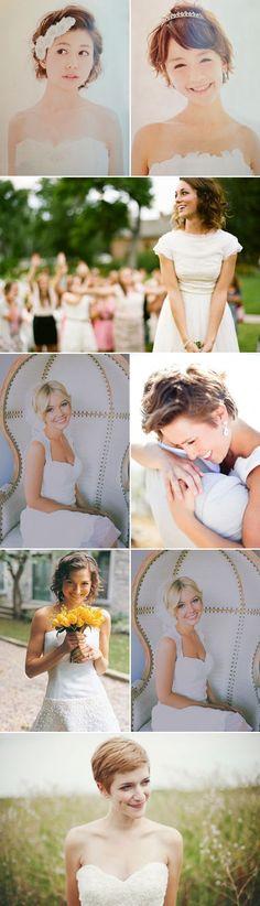 33 Chic Short Bridal Hairstyles-cute