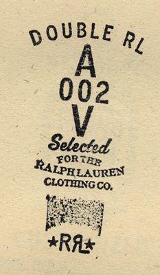 Double RL Ralph Lauren // stamp