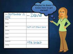 NAMC montessori work cycles tips on teaching children time management teacher tracking sheet