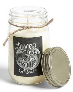 'Love' Mason Jar Candle
