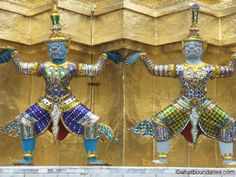 Ceremonial icons at Thailand's Grand Palace in Bangkok Bangkok Thailand, Exploring, Palace, Decor, Decoration, Palaces, Explore, Decorating, Research