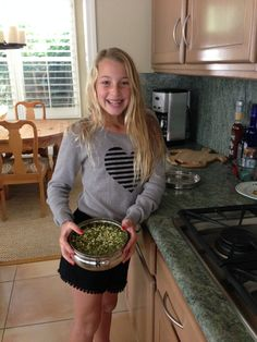 """""""Green mung beans are so easy and fun to make and they taste great!""""  Ashley, 11 years old."""