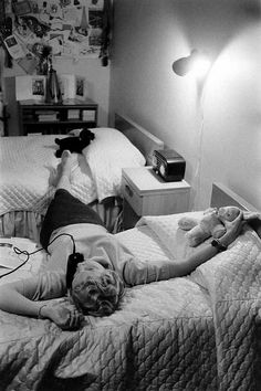 fuckyeahvintage-retro:    Teenage telephone essay, 1950s © Grey Villet