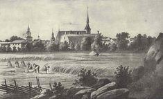 Vanha Vaasa, Johan Knutssonin litografia 1840-luvulta. Finland, Denmark, Norway, Landscape, Roots, Painting, Sweden, Art, History