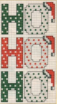 ho ho ho x-stitch Cross Stitch Christmas Ornaments, Xmas Cross Stitch, Cross Stitch Cards, Christmas Embroidery, Christmas Cross, Cross Stitching, Cross Stitch Embroidery, Christmas Sayings, Cross Stitch Designs