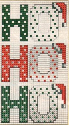 HO HO HO cross stitch chart