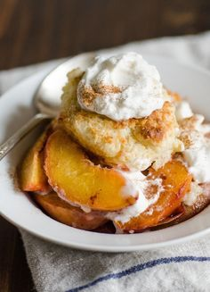 Recipe: Sweet Biscuits with Roasted Peaches — Recipes from The Kitchn | The Kitchn
