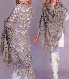 free crochet shawl pattern for women