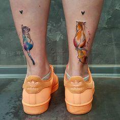 Watercolor Tattoos with Simonas Signature Heart