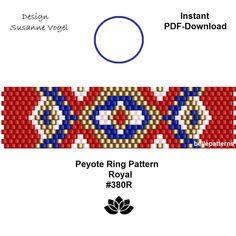 Peyote Stitch Patterns, Bead Loom Patterns, Beading Patterns, Beaded Earrings Native, Beaded Rings, Beaded Jewelry, Peyote Beading, Bead Embroidery Jewelry, Tutorials