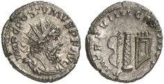 AR Antoninianus. Roman Coin, Roman Empire, Postumus 260-269 AD, Cologne mint. 268 AD. 3,96g. RIC V/2, 361, 291. R! EF. Price realized 2011: 500 USD.
