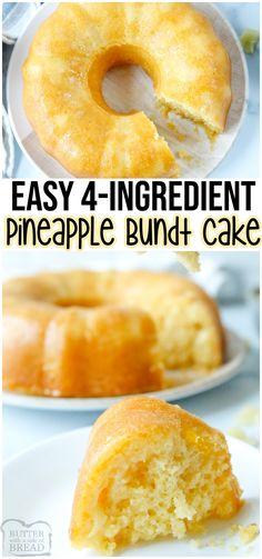 Delicious Cake Recipes, Cake Mix Recipes, Yummy Cakes, Sweet Recipes, Easy Homemade Cake Recipes, Yum Yum Cake Recipe, Easy Butter Cake Recipe, Cake Mixes, Pineapple Dessert Recipes
