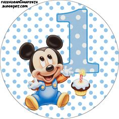 First Year of Mickey with Polka Dots: Free Printable Candy Bar Labels. Festa Mickey Baby, Theme Mickey, Mickey E Minie, Fiesta Mickey Mouse, Mickey Mouse Parties, Mickey Party, Disney Mickey, Mickey 1st Birthdays, Mickey Mouse 1st Birthday