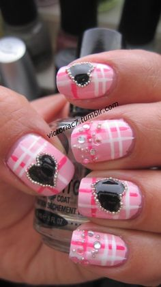 "Pink plaid with black hearts.  I'd like to try a slightly more ""Jenn"" version of this."