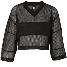 Satin and Mesh Crop Top by Ivy Park (125.265 COP) ❤ liked on Polyvore featuring tops, crop top, ivy park, long sleeves, black, mesh top, cut-out crop tops, boxy top, topshop tops and mesh crop top