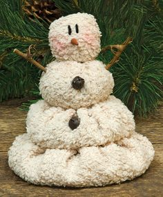 Lil' Melting Plush Snowman The ultra soft Melting Snowman is accented with twig arms and tiny jingle bells. Christmas Sewing, Christmas Fabric, Christmas Snowman, Country Christmas, Primitive Christmas Ornaments, Christmas Trees, Snowman Crafts, Christmas Projects, Holiday Crafts