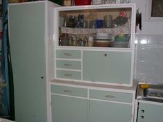 Old style kitchen cabinet, my grandmother had one like that.