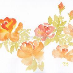 Luminosity Watercolor, floral, print, scarf, dress, top, skirt, tote, gadget cover, throw pillow, mug, journal