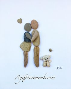 """Every step of the way"" how adorable is that little puppy! #agifttorememberart #pebbleart #puppy #dog #love #etsy #stones #art #instaart #instagood #instaphoto #photooftheday #gift #handmade #artwork #interiordesign #roomdecor #australia #adelaide #cutepuppy #frame #neshatghaffari #beach #recycledart #makersgonnamake"