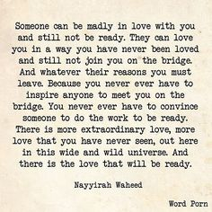 So much truth in this today. #swoon #poetry #writing #nayyirahwaheed #truth…