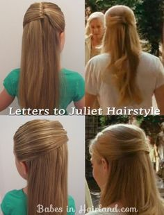 Letters to Juliet Hairstyle - Babes In Hairland - Wedding Ponytail Hairstyles, Easy Hairstyles For Long Hair, Diy Hairstyles, Pretty Hairstyles, Hairstyles Pictures, Hairstyle Tutorials, Amanda Seyfried Hair, Letters To Juliet, College Hairstyles