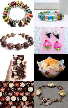 Delicious Inedibles, featuring my Caramel Swirl Hammered Copper Bracelet! --Pinned with TreasuryPin.com
