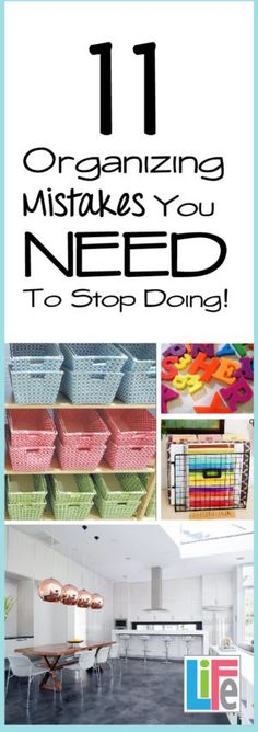 STOP- If you want a clean and organized home take a minute to read some organizing tips out there that actually make your home cluttered and messy looking.