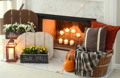 Your guide to turning your house into a home. one DIY project and yard sale find at a time Rustic Curtain Rods, Rustic Curtains, Barn Wood Projects, Wood Pumpkins, Rustic Wood, Diy Wood, Rustic Barn, Wood Shutters, Diy Pergola