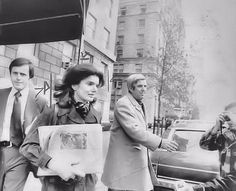 1973-11-21: Jackie leaves her 1040 apartment for her home in Peapack, NJ, where she planned to spend the 10th anniversary of JFK's death with her children.
