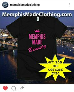 Use this code to get 20% off Memphis Made Clothing shirt @ MEMPHISMADECLOTHING.COM