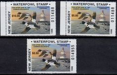 New Jersey Waterfowl Stamps 1996.