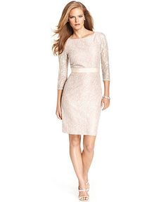champagne lace dress from macys.com