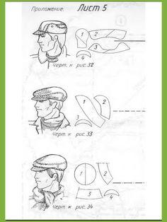 Cap sewing pattern.