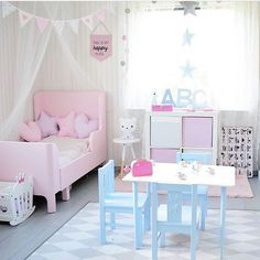 Because a little girl's bedroom can be both pink and blue #kidsroom #kidsbedroom #decoratingideas Find more inspirations at www.circu.net