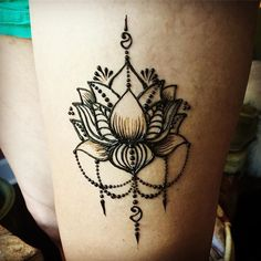 41 New ideas for tattoo lotus thigh henna designs Henna Tattoo Hand, Henna Body Art, Henna Tattoo Designs, Henna Mehndi, Henna Art, Mehndi Designs, Hand Tats, Mehendi, Mehndi Art