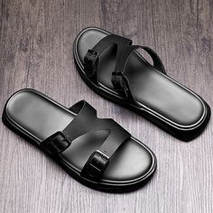 Just wishes for you Mens Leather Slippers, Mens Slippers, Leather Sandals, Sandals Outfit, Fashion Sandals, Ascot Shoes, Gentleman Shoes, Fashion Slippers, Slipper Sandals