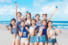 Girl group Twice became spokesmodels for Pocari Sweat, a popular sports beverage, Otsuka Pharmaceutical announced Monday. The group will be celebrating the anniversary of the product. J Pop, Nayeon, Twice Mv, Twice Once, South Korean Girls, Korean Girl Groups, Pocari Sweat, Twice Group, Warner Music