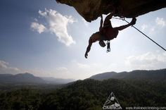 Cruising limestone: climbing above Thailand's beautiful jungle views