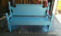 Another great head and footboard bench tutorial