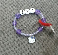 Pre made hello kitty bracelet I sold this summer while working at a country fair