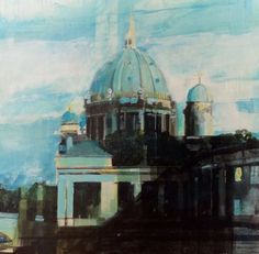 ARTFINDER: Museum island, Berlin. by Julian Sutherland-Beatson - Part of my new 'At Home and Abroad' daily painting project comprising acrylic paintings of the countryside, coastline and urban areas of the UK and abroad. T...