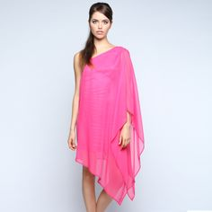 Flowy assymetrical dress.