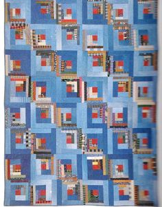 Love this quilt that was made from old denim/blue jeans! QUILT PROJECT Book USA FLAG,HEN HOUSE,LOG CABIN STAR,TEA FOR TWO
